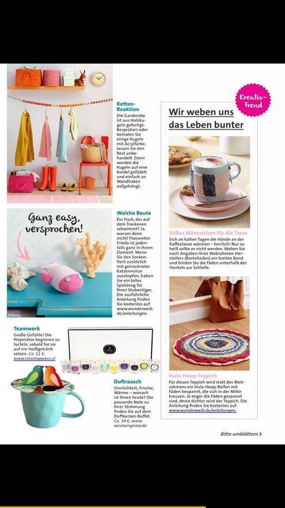 Laura Kreativ Wohnen; Duits tijdschrift 02-17