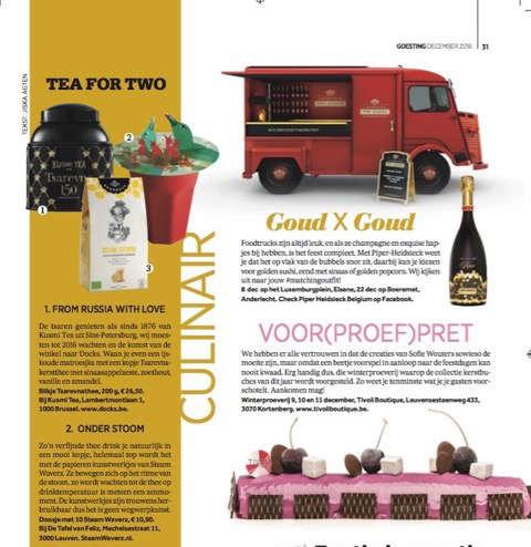 Belgische Goesting bijlage krant De Morgen 12-2016