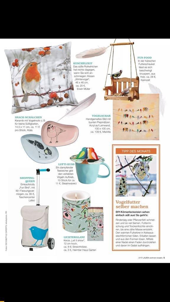 Laura Kreativ Wohnen; Duits tijdschrift 01-18