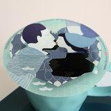 Delfts Blauw kussend paar