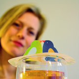 Tea Birds, gift, Steam Waverz. Theeaccessoire. tea moments, high tea uitnodiging, theebedankje